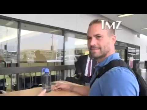 Paul Walker last interview TMZ at the airport