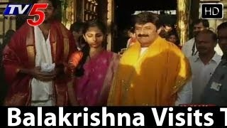Balakrishna Visits Tirupati With New Couple