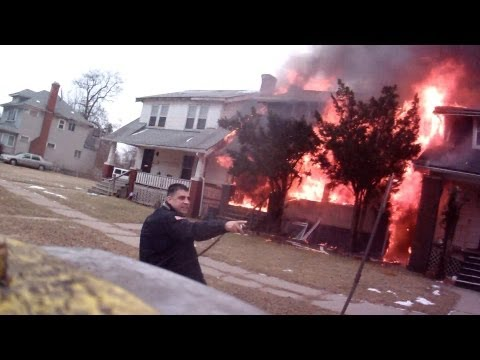 Fire attack: Multiple single-family structures