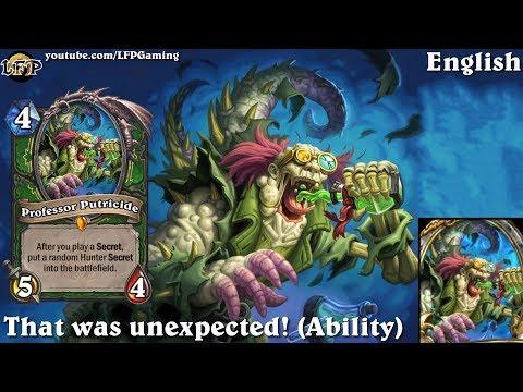 Hearthstone: Professor Putricide card sounds in 14 languages -KotFT -Legendary