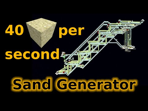 Minecraft 1.9: Sand Generator - 40 sand/second (144,000 sand/hour)