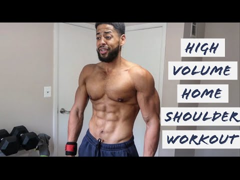 HIGH VOLUME HOME SHOULDER WORKOUT | FITNESS MOTIVATION| CRUSHED WORKOUTS