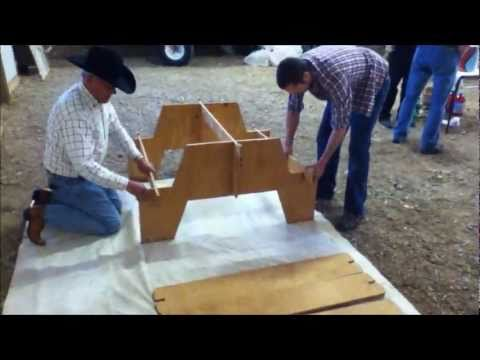Amazing Portable Picnic Table from single sheet of plywood ...