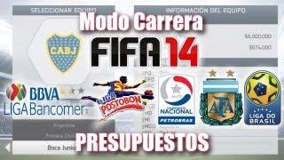 FIFA 14 Modo Carrera: Presupuestos (Mexico, Argentina