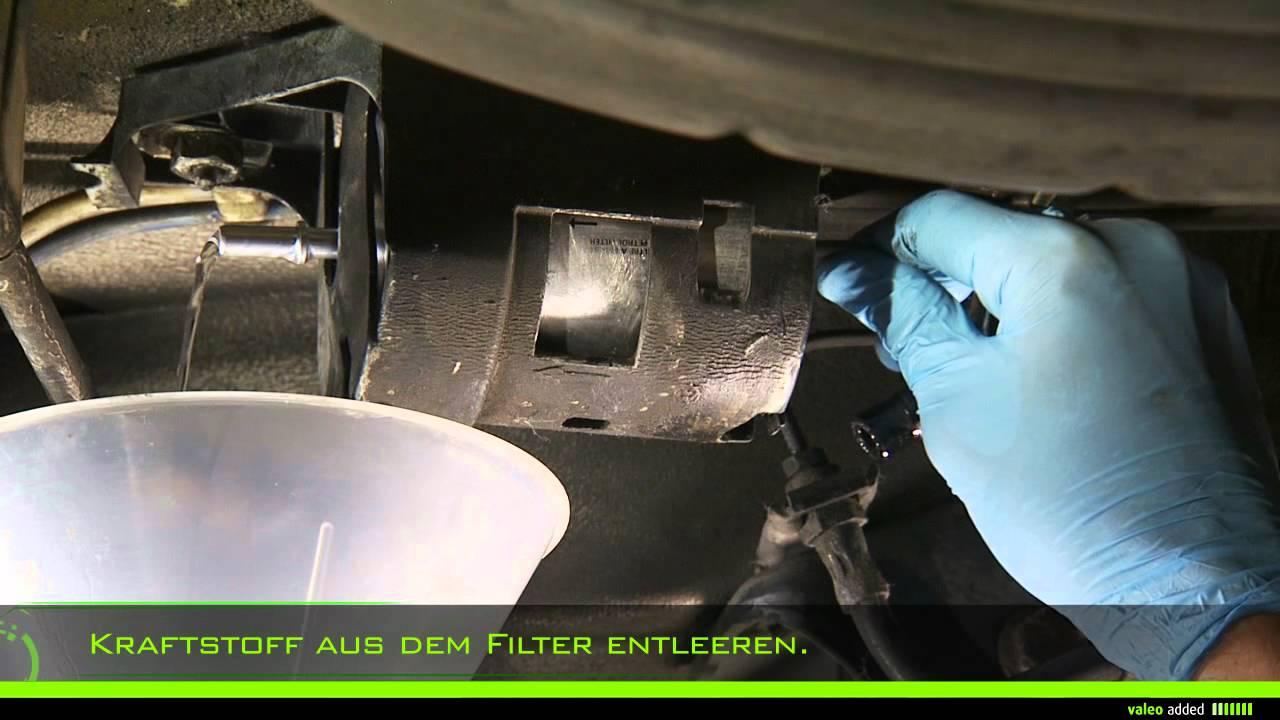 Valeo Kraftstofffilter Montage Eines