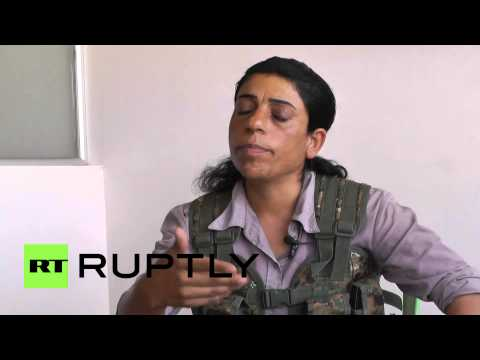 Syria: Kurdish women train to defend