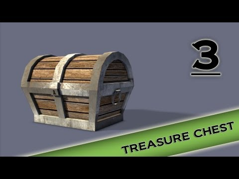 Autodesk Maya 2013 Tutorial - Treasure Chest Modeling, Texturing, lighting Part 3