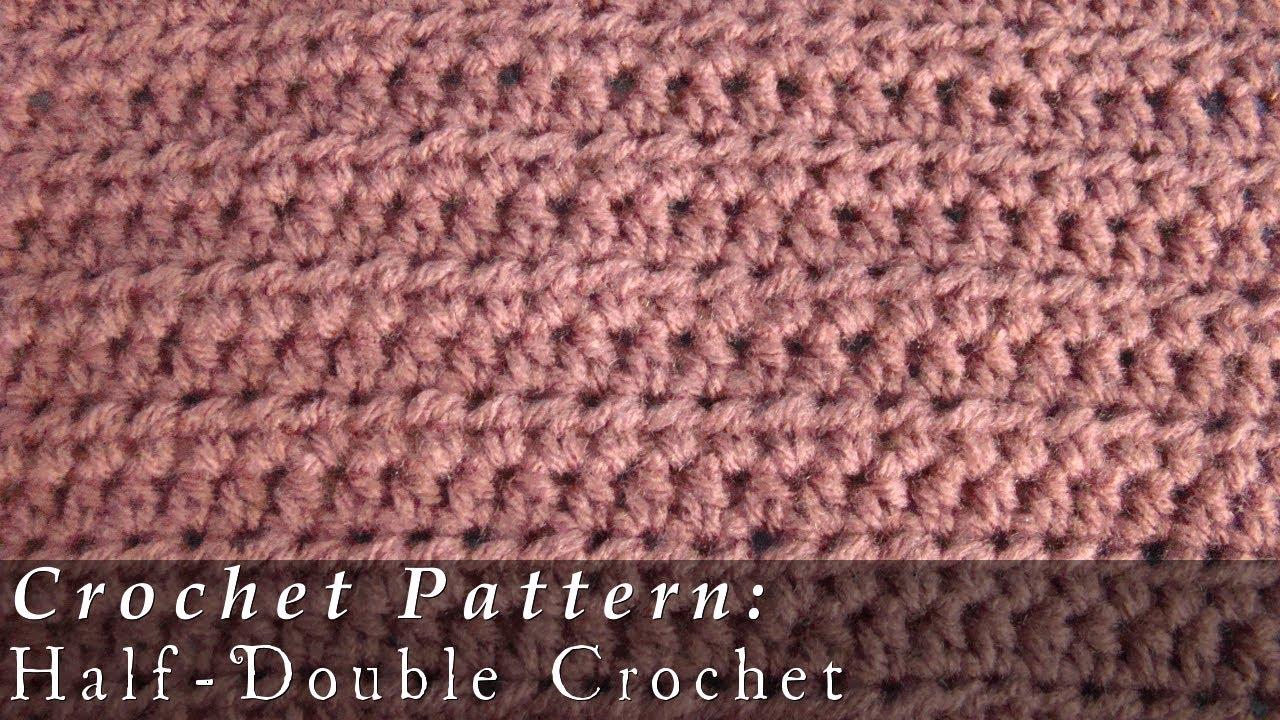 Half Double Crochet Pattern Crochet Challenge 2/63 - YouTube
