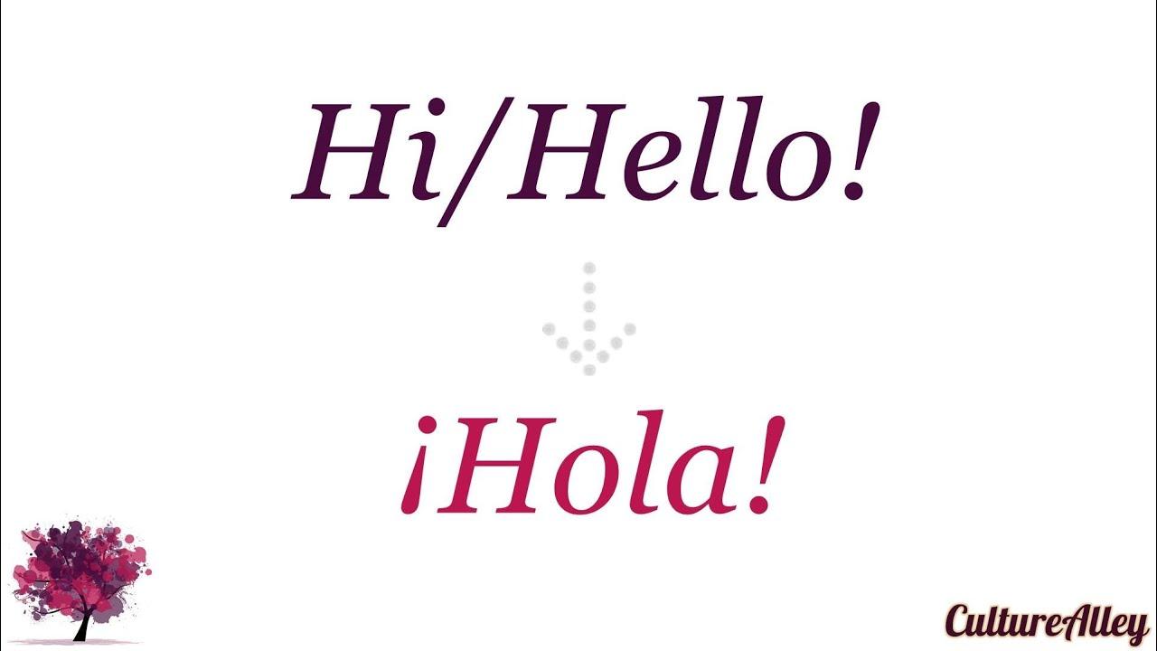 how to say hi in spanish google translate
