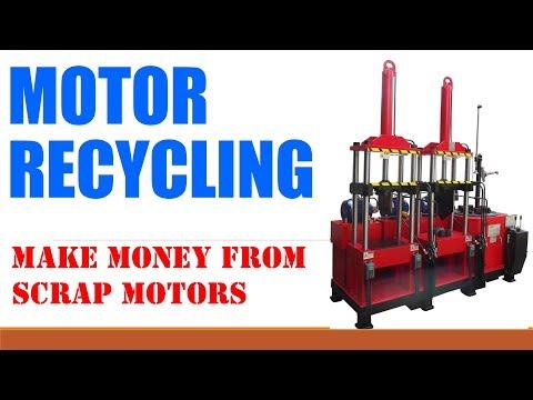 Electric used motor recycling machine mw 808ii youtube for Electric motor recycling machine