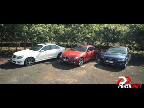 Audi A4 vs Mercedes-Benz C class vs BMW 3 series: PowerDrift