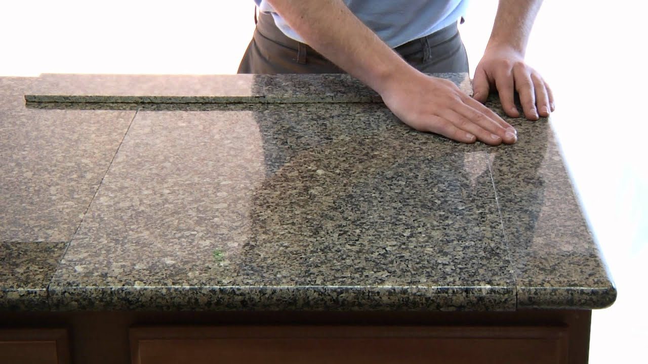 Lazy granite tile for kitchen countertops youtube for How much does a granite slab cost