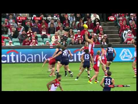 Sydney v Fremantle - Last two minutes - AFL
