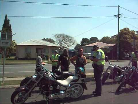 Police Harass Motorcycle Riders - Sept 2011