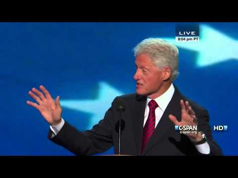 Bill Clinton speaks at the 2012 DNC (C-SPAN) - Full Speech