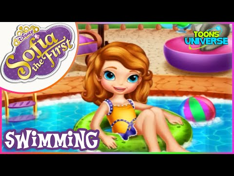 Sofia the First Swimming Pool Disney Junior Movie Full Game for Children HD