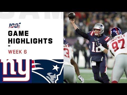 Giants vs. Patriots Week 6 Highlights   NFL 2019