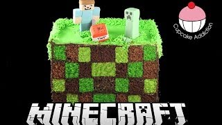 Square Checkerboard MINECRAFT Cake! How to Make a Surprise Inside Checker Board Cake