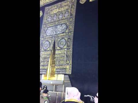 Arrival of Imam-e-Kaba for Fajar prayer in Holy Kaba, Makkah