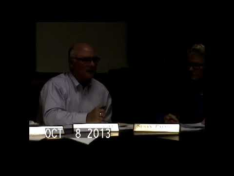 Chazy Town Board Meeting 10-8-13