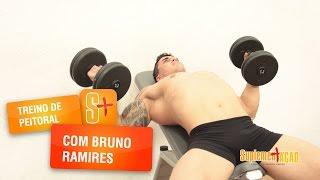 Treino de peitoral com o atleta Bruno Ramires