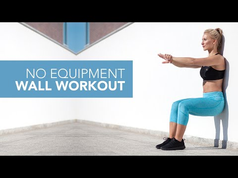 Total Body NO EQUIPMENT Workout (USING A WALL!)