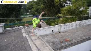 Parkour Kid: 11 Year Old Does Epic Gymnastics & Freerunning