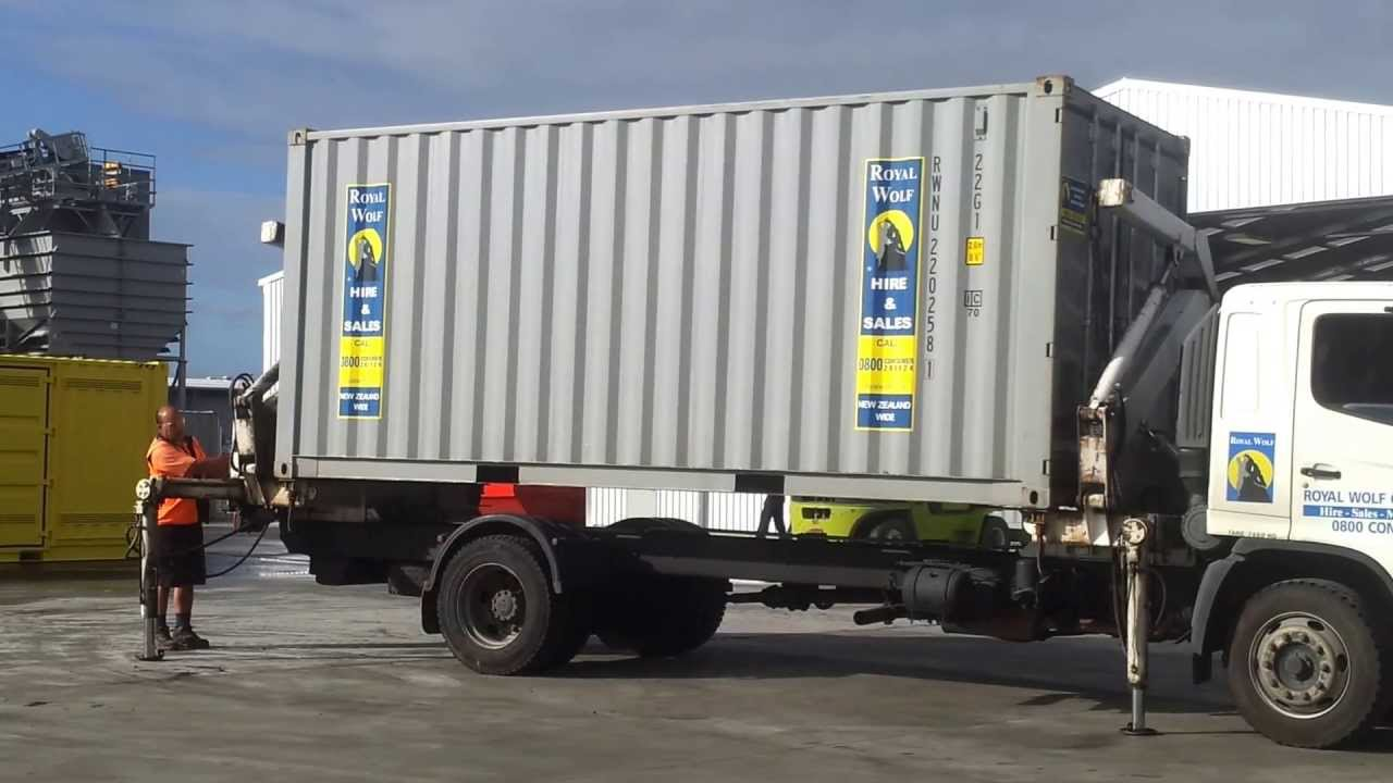 Shipping Container Side Loader Delivery Of 20ft Shipping
