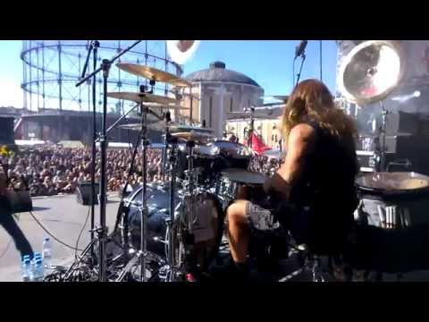 Pearl Artist Jeff Plate Drum Cam - Start The Fire @ Tuska, Helsinki Finland 28.6.2014