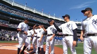 TOR@NYY: Yankees starters introduced on Opening Day