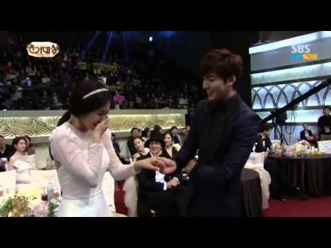 MinShin Moments Park Shin Hye & Lee Min Ho  at SBS AWARD 2013  ♥ 720pHD