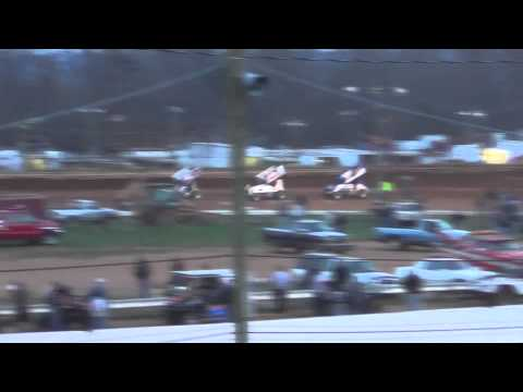 Susquehanna Speedway Park 410 and 358 Sprint Car Highlights 11-16-13