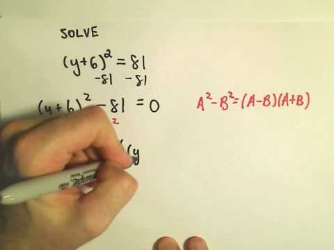Solving Quadratic Equations by Factoring - Another Example