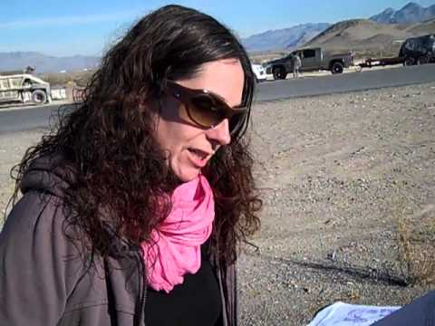 Marilyn Hacker ghazal being read in the Nevada desert