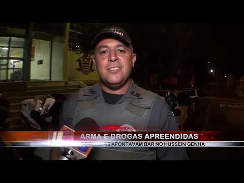 01/03/2019 - Polícia Militar apreende arma e drogas no Bairro Hussein Genha em Barretos