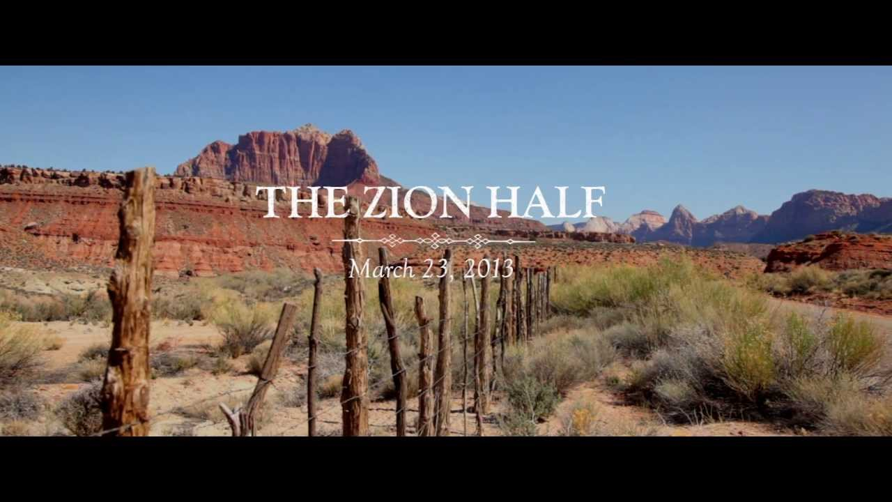 Zion Half Marathon Race Video 2013 Youtube