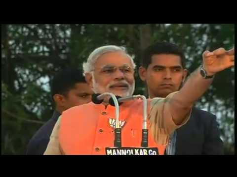 Shri Narendra Modi addressing a massive gathering in Gokak ,Karnataka