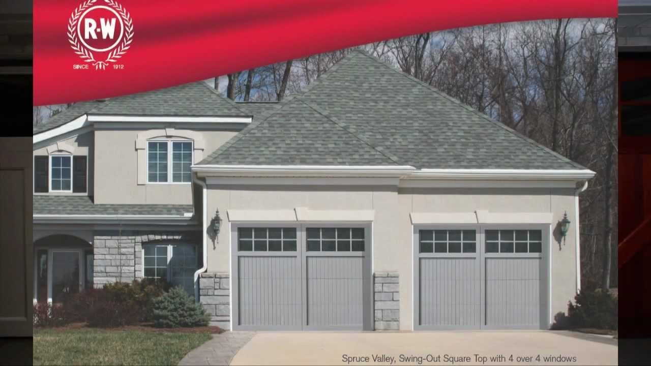 Wood carriage house garage doors by richards wilcox youtube
