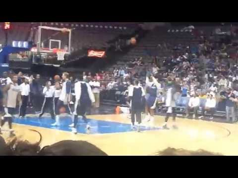 Dirk nowitzki shot is money Watching the dallas mavericks practice part 2
