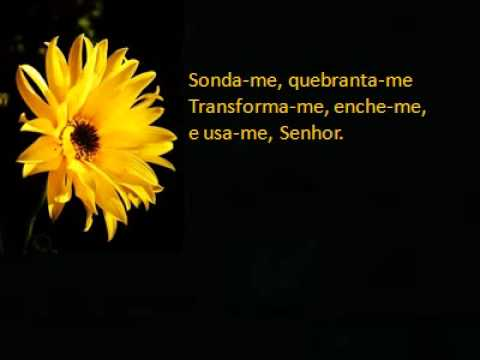 Aline Barros - Sonda-me (Playback Legendado) Tom Mezzo