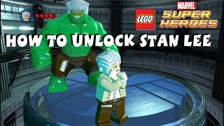 Lego Marvel Super Heroes How To Unlock Stan Lee All 50