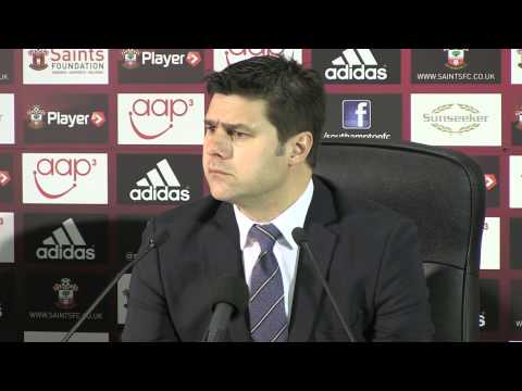 Mauricio Pochettino after Southampton v Arsenal - 28 1 2014