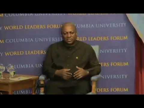 World Leaders Forum: John Mahama, President of the Republic of Ghana