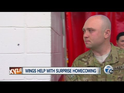 Red Wings help with surprise military homecoming