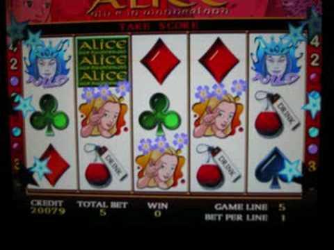 alice in wonderland slot machine bonus