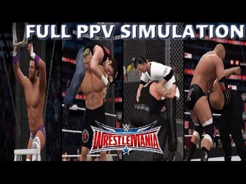 WWE 2K16 SIMULATION: Wrestlemania 32 Highlights