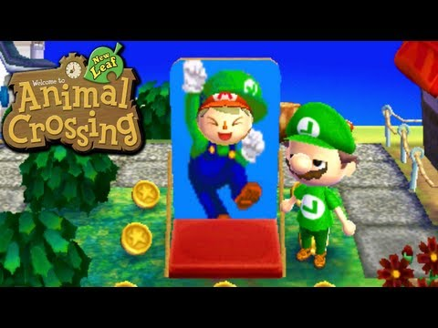 Animal Crossing: New Leaf - Mario's Mansion (Nintendo 3DS Gameplay Walkthrough Ep.40), Today we yell at a youngin' to get off our lawn, hit the fruit jackpot, pick up our solid gold sleeper, and visit the town run by Nintendo of America to disc...