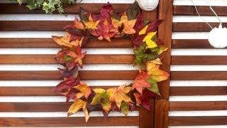 Hacer una corona otoñal con hojas secas