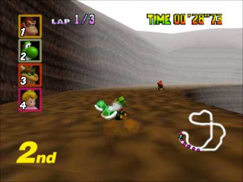 Mario Kart 64 - Racing the FLOWER CUP Extra (Nigcatt) - User video