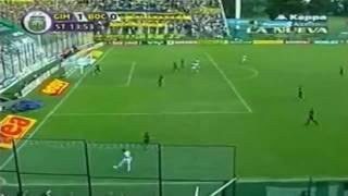 18/04/2010 - Campionato argentino - Gimnasia La Plata-Boca Juniors 1-0, il gol in doppia rovesciata stile Holly e Benji!